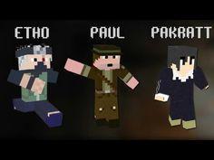 Etho, Paul and pakratt from mindcrack
