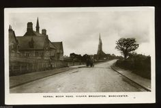 MANCHESTER /HIGHER BROUGHTON Kersal Moor Road view of Church RP | eBay Salford, Local History, Good Day, Manchester, Old Things, Memories, City, Buen Dia, Memoirs