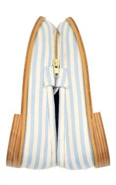 Natural, Pale Blue Le Mocassin Zippe by Ketevane | Moda Operandi