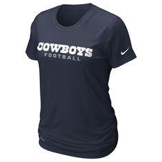 Dallas Cowboys Women's Legend Wordmark T-Shirt (Navy)