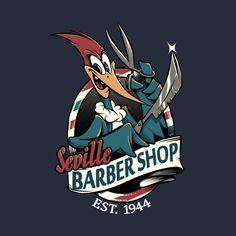 Shop Barbeiro de Seville cartoon t-shirts designed by as well as other cartoon merchandise at TeePublic. Barber Shop Interior, Barber Shop Decor, Looney Tunes Cartoons, Funny Cartoons, Barber Logo, Barbershop Design, Sketchbook Inspiration, Cool Logo, Cartoon Art
