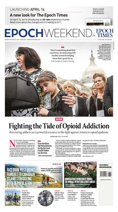 Fighting the Tide of Opioid Addiction|Epoch Times #newspaper #editorialdesign