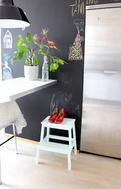 my scandinavian home: My home: kitchen blackboard wall