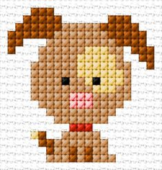 Projects For Dogs Dog Tiny Cross Stitch, Baby Cross Stitch Patterns, Cross Stitch Letters, Cross Stitch Animals, Hand Embroidery Patterns, Modern Cross Stitch, Cross Stitch Designs, Quilt Patterns, Stitching On Paper