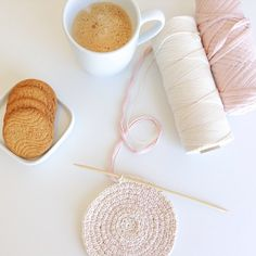 Happy Sunday!  Feliz Domingo! #Crochet #coffee #ganchillo #cafe #crafts