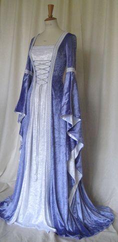 pagan+wedding+gown   Alexandra, a Medieval, Elvish, Pagan Custom Made Handfasting Dress