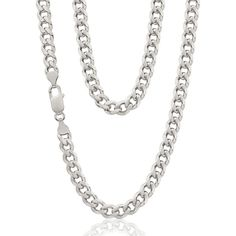 mens sterling silver curb chain