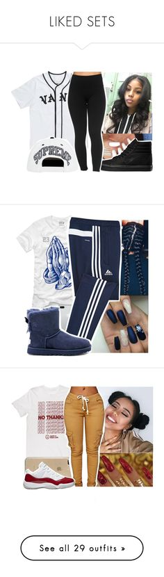 """LIKED SETS"" by younglolita ❤ liked on Polyvore featuring Vans, adidas, UGG Australia, Versace, Speck, Topshop, Smashbox, MCM, Tory Burch and NIKE"