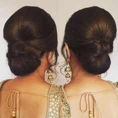 Hairstyles For Sarees Hair Styles Bun Hairstyle Colour World