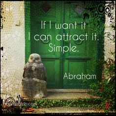 I can attract it. #loa #lawofattraction #abraham