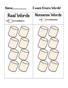 Make your own real or nonsense words s'mores