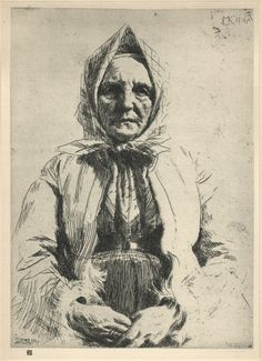 Anders Zorn, Mona, Etching