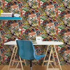 Papírová tapeta na zeď, 70-265, Marvel Cover, Kids@Home 5, Graham & Brown