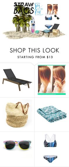 """""""straw bag"""" by pokeasaurousrex ❤ liked on Polyvore featuring Gloster, Wrong for Hay, WithChic, Rupert Sanderson and strawbags"""