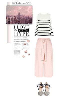 """""""Pink Happiness"""" by youaresofashion ❤ liked on Polyvore featuring River Island, Cardigan, Monde Mosaic, J.Crew and stripes"""