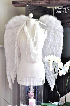 ❥ dress form, wings