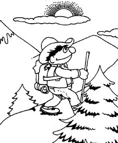 sesame street coloring pages going on a hike