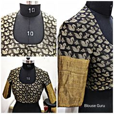 Back high neck, front 'U' neck, and elbows sleep present this design is moving very fast. Blouse Designs High Neck, Simple Blouse Designs, Stylish Blouse Design, Fancy Blouse Designs, Kurta Designs, Design Of Blouse, High Neck Kurti Design, Designer Saree Blouses, Boat Neck