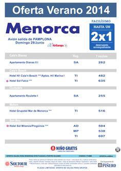 Hasta 2x1 Hoteles en Menorca, salida 29 Junio desde Pamplona ultimo minuto - http://zocotours.com/hasta-2x1-hoteles-en-menorca-salida-29-junio-desde-pamplona-ultimo-minuto/