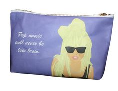 LADY GAGA makeup bag lil' purse... original by kayciwheatley, $28.00