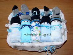 Windelbabys in der Box  Junge Baby Geschenk Geburt Taufe