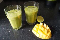 Green Smoothie - Bio Gerstengras Spirulina  Mango Limetten Drink - Nurafit #smoothies