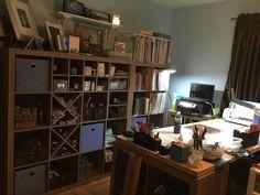 Ikea Kallax, Liquor Cabinet, Bookcase, Scrapbooking, Shelves, Storage, Crafts, House, Furniture