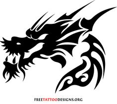 21 Fresh tribal dragon tattoo designs + learn more about the meaning of dragon tattoos. Dragon Tattoo Drawing, Dragon Head Tattoo, Tribal Dragon Tattoos, Dragons Tattoo, Dragon Tattoo Designs, Celtic Tattoos, Snake Tattoo, Head Tattoos, Life Tattoos