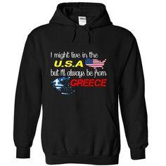 Greece-USA - #tee pee #cool hoodie. SAVE => https://www.sunfrog.com/LifeStyle/Greece-USA-hizyv-Black-Hoodie.html?68278