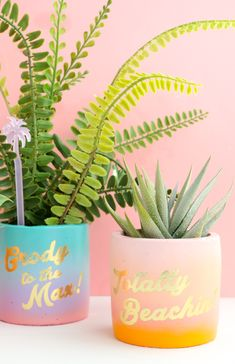 A Kailo Chic Life - Kailo Chic - DIY your way to a colorful life! Plant Crafts, Decor Crafts, Home Crafts, Diy And Crafts, Homemade Gifts, Diy Gifts, Diy Planters, Craft Tutorials, Craft Ideas