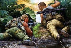Soviet troops in ambush