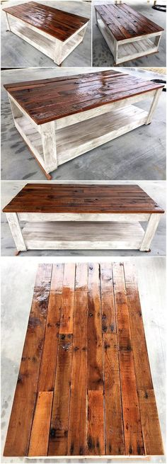 pallets wood made table