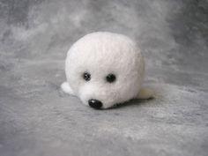 OOAK Handmade Seal needle felting doll toy miniature soft sculpture #CuterLand…