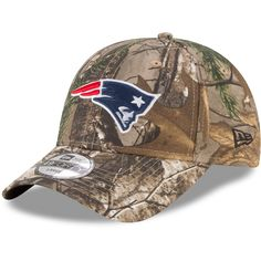 e05463bd2b2 Men s New England Patriots New Era Realtree Camo Realtree 49FORTY Fitted Hat