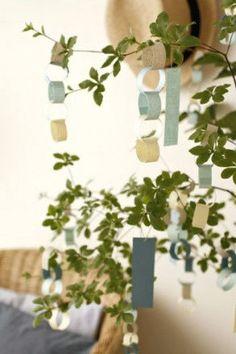 身近なもので短冊飾り Star Festival, Tanabata, Origami, Display, Seasons, Party, Summer, Japanese Style, Crafts