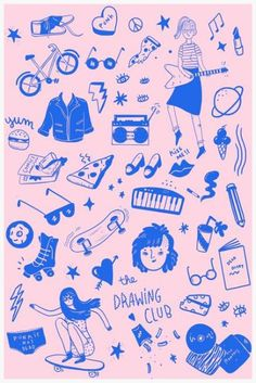 Things that could be made with a Risograph printer. Art And Illustration, Pattern Illustration, Illustrations Posters, Hipster Illustration, Graphic Design Illustration, Graphic Art, Web Design, Design Art, Logo Design