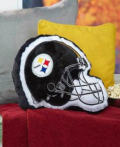 NFL STEELERS TEAM HELMET PLUSH COLORFUL PILLOWS WITH LOGO FOR NFL FANS  #TBD #PittsburghSteelers