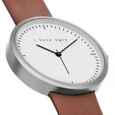 I Love Ugly Watch - Chestnut