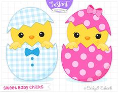 Easter chicks clip art Easter clipart cute chicks baby