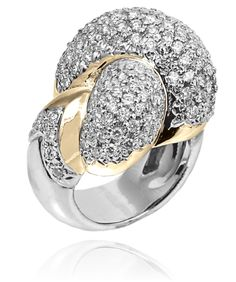 Ring in 14k Gold/Sterling Silver with 1.79 Diamond #VahanLoveKnot #VahanPinterest