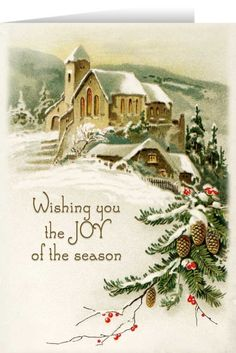 German Christmas postcard vintage Christmas clip art snowy winter country scene old fashioned Christmas card snow covered church illustration christmasgreetings german christmas greetings German Christmas, Old Christmas, Old Fashioned Christmas, Victorian Christmas, Xmas, Christmas Graphics, Christmas Clipart, Christmas Greetings, Christmas Wishes