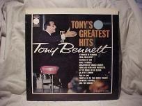 "TONY BENNETT TONY'S GREATEST HITS ""VINTAGE"" LIMITED EDITION LP"