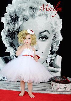 Marilyn Monroe Tutu Dress   Flower girl TuTu DressWhite Flower girl by GlitterMeBaby on Etsy, $55.00
