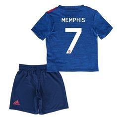 Děti Manchester United 16-17 Memphis Depay 7 Venkovní Krátký Rukáv #Fotbalové    #dresy  #levně