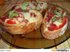 Czech Recipes, Ethnic Recipes, Bread Baking, Baked Potato, Ham, Sandwiches, Recipies, Toast, Food And Drink