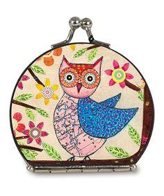 Look at this #zulilyfind! Tan Owl Compact Mirror #zulilyfinds