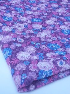 Pink and Purple Floral Peter Pan Fabrics