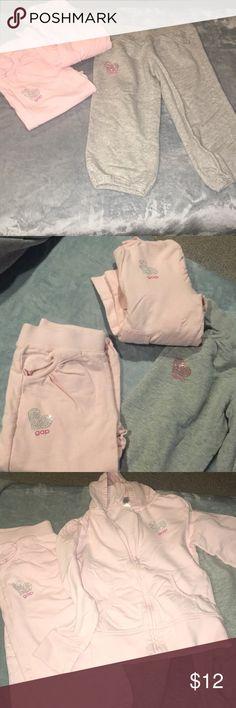 3 piece gap outfit Two pairs of gap  Capri pants One put a long sleeve gap sweatshirt GAP Matching Sets