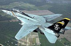 """Grumman F-14 Tomcat, USN VF-103 """"Jolly Rogers"""" Squadron."""