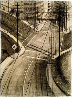 An art appreciation essay about the artist Wayne Thiebaud with many examples of his work. Wayne Thiebaud, Contemporary Landscape, Urban Landscape, Landscape Drawings, Art Drawings, Pop Art, Art Postal, Art Plastique, American Artists